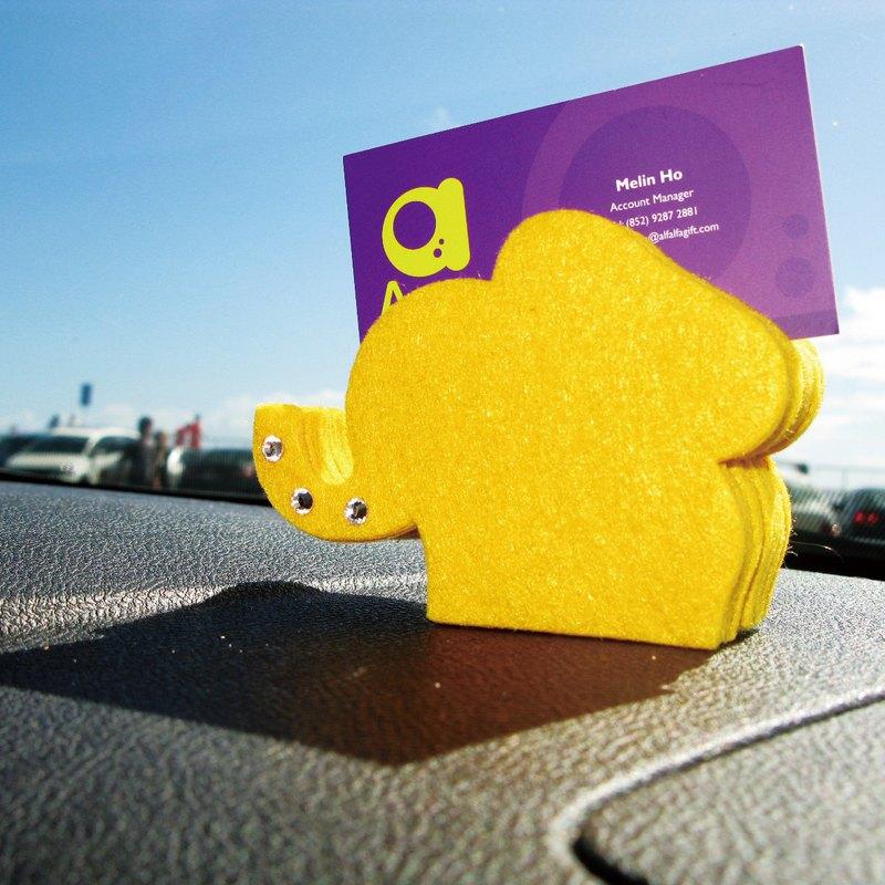 動物造形毛氈卡片座 - 象