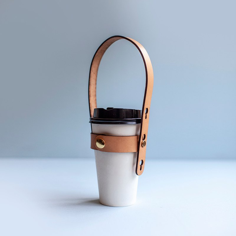 CUP HOLDER handmade cowhide drink strap
