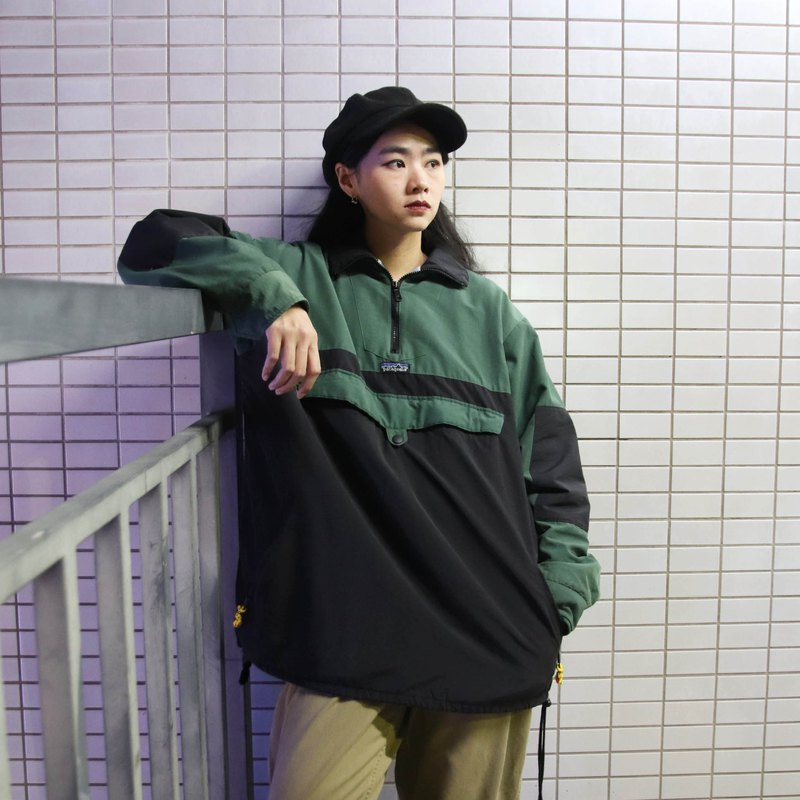 Tsubasa.Y ancient house patagonia pullover, half pull windbreaker brush to protect the cold