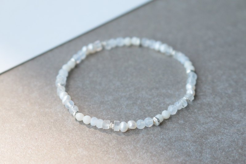 Moonstone sterling silver bracelet 1139 - this day