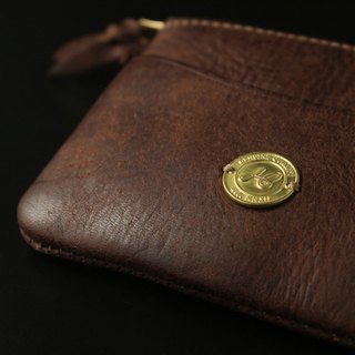 HEYOU Handmade - Coin Case Leather Coin Purse - Coffee Color