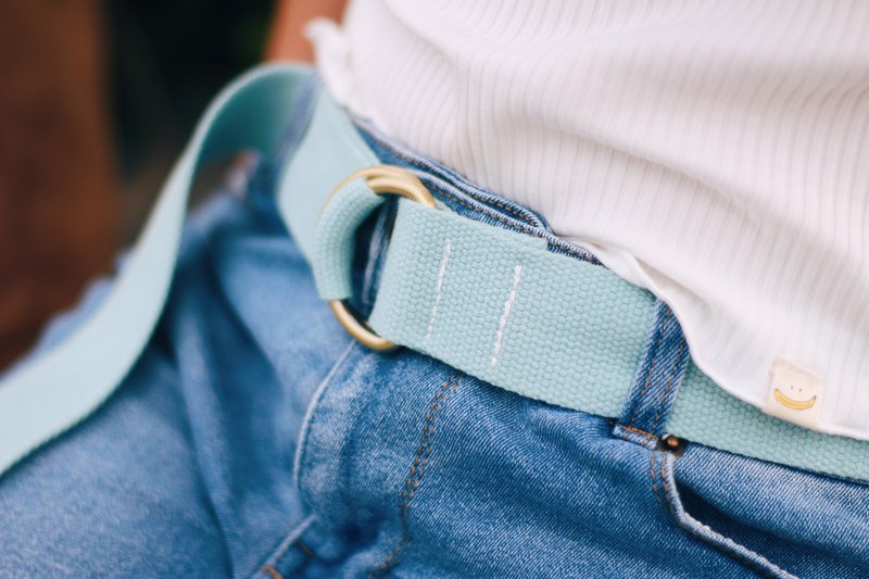 Lake Blue / Simple Copper Buckle Belt / Wear Essentials / Banananaxx