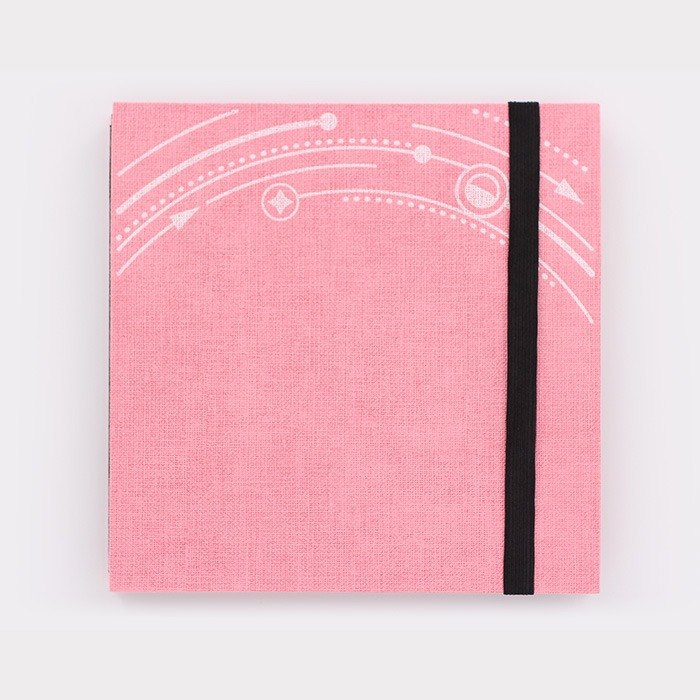 Three summer sea stars planet light-years trajectory straps books section DIY album creative gifts large square (pink fabric)
