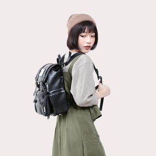 [Twin Series] 2018 Advanced Edition - Traveler Backpack (Small) - Black Crocodile