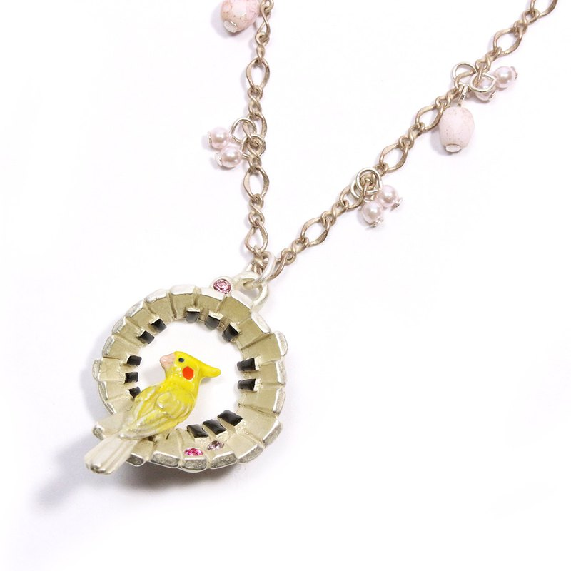 Singing mind song heart necklace NE388