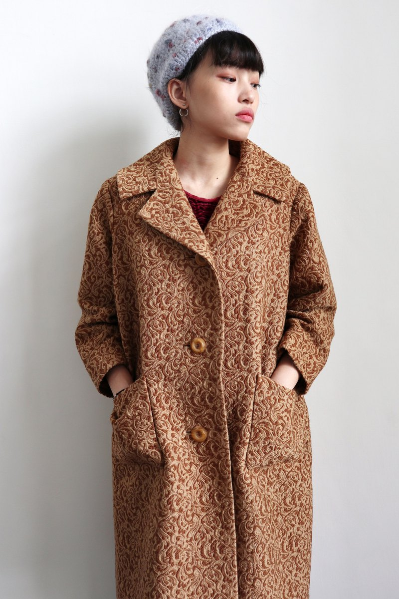 Pumpkin Vintage. Vintage three-dimensional pattern coat coat