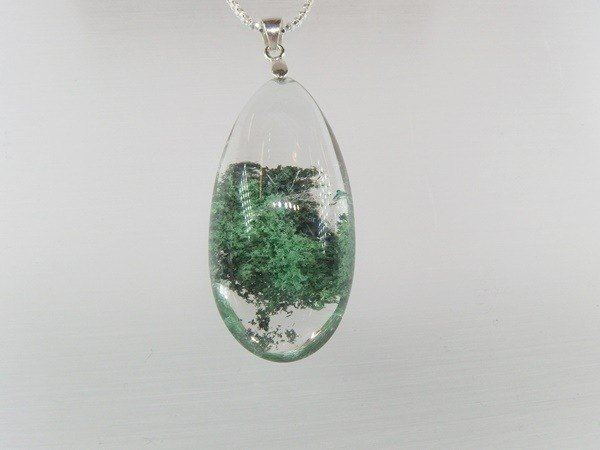 Refreshing quality natural Phantom Silver Pendant Green Phantom Silver Pendan