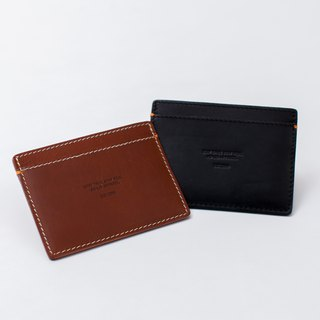 【ad-lib】Leather Card Holder - Brown//Black (CH295)