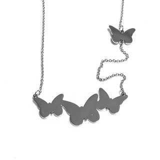 Cute abstract butterfly necklace