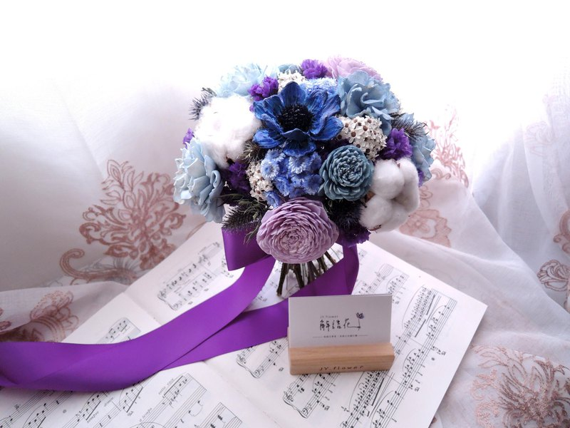 Ocean Love] Dry Flower Bouquet / Bridal Bouquet / Wedding Bouquet ...