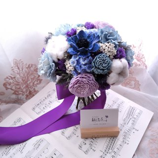 [Ocean Love] Dry Flower Bouquet / Bridal Bouquet / Wedding Bouquet / Customized / Blue Purple