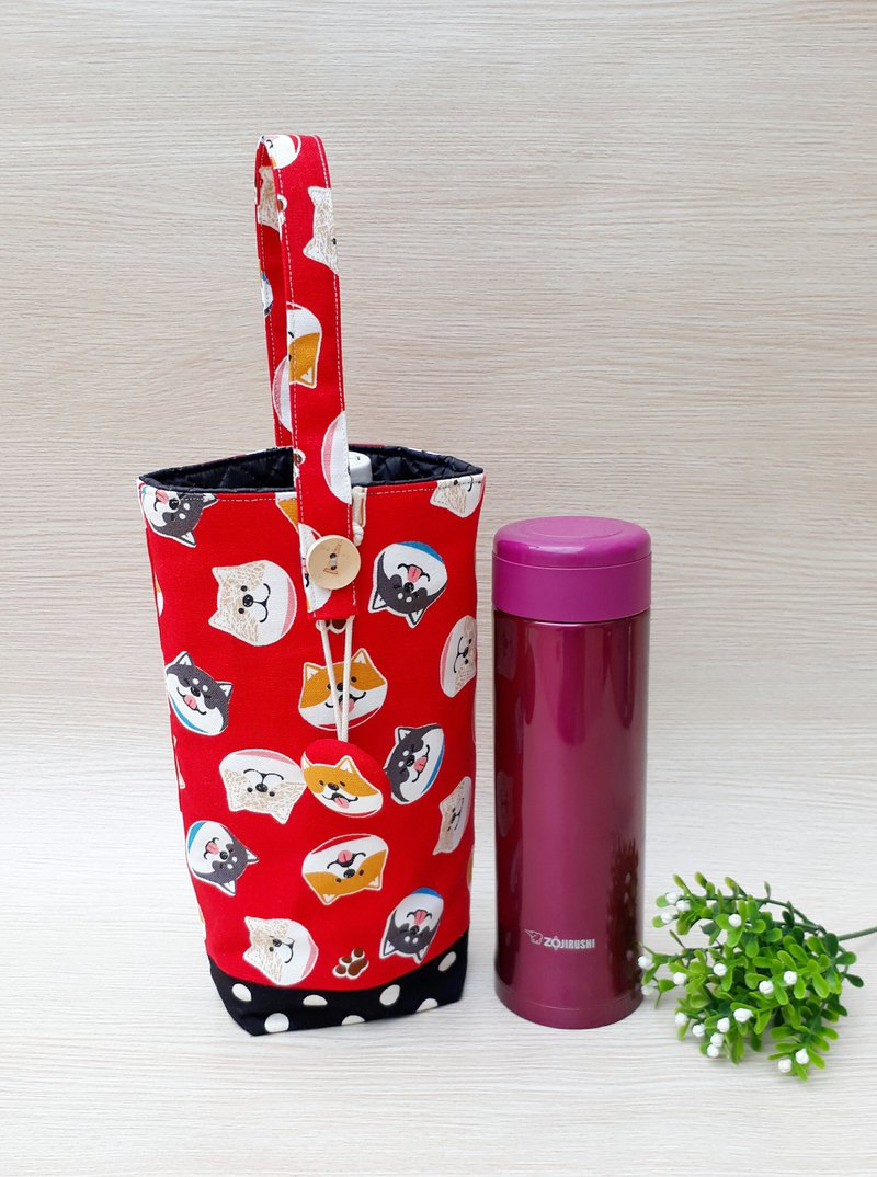 [Kettle. Insulation Cup Bag] Cute Shiba Inu - Japanese and Korean fabrics