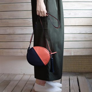 Camera Bag-bright orange/navy blue