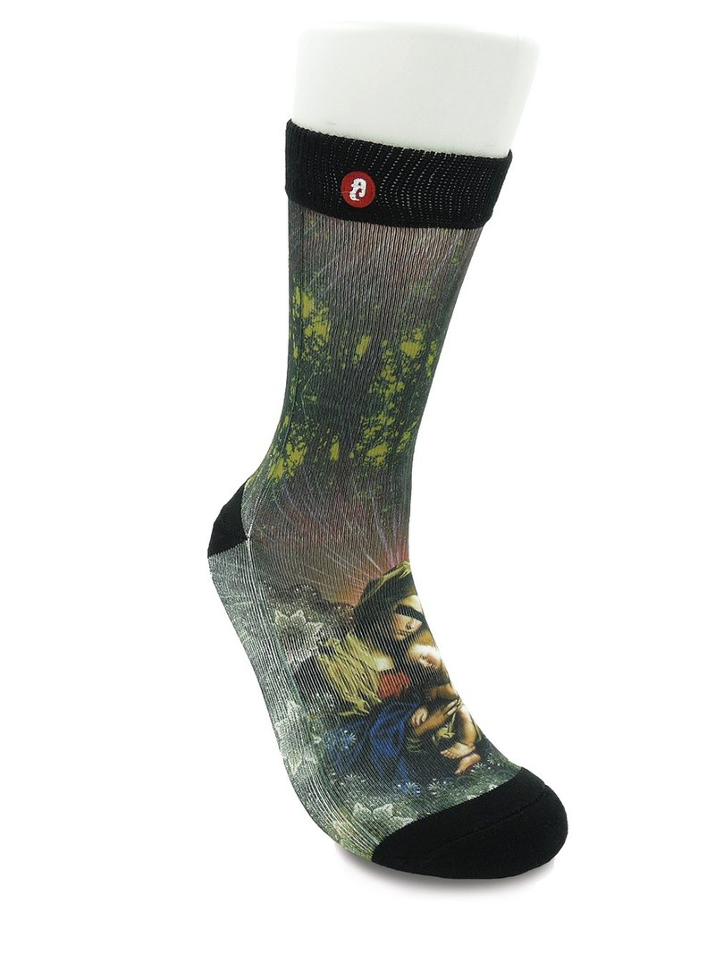Hong Kong Design | Fools Day Printed Socks - M&C in Forest 00001