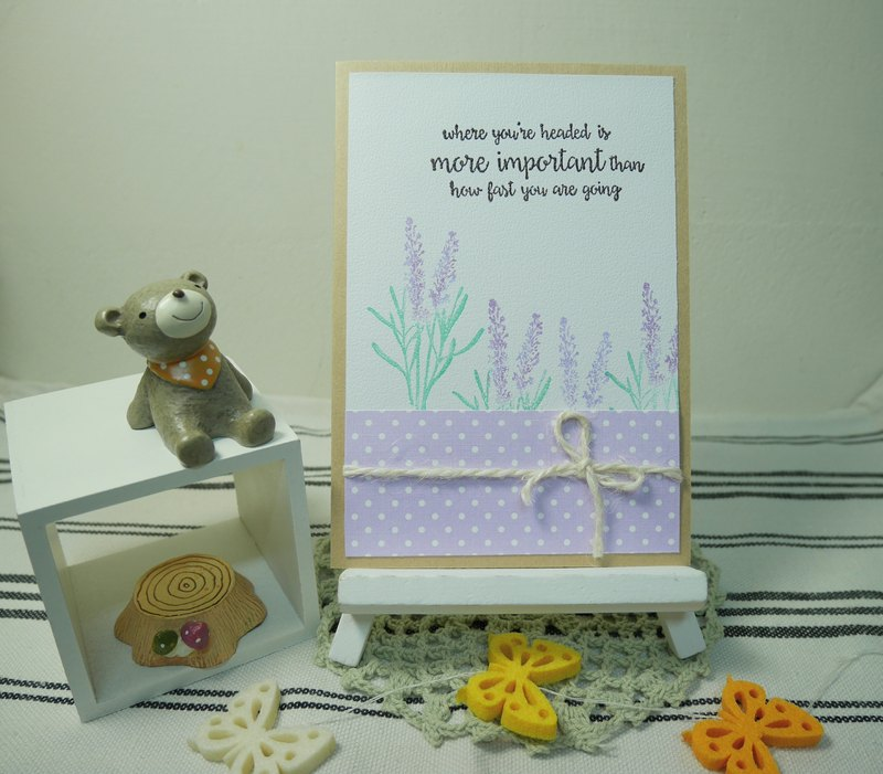 Handmade cards - sweet Lavender universal card (birthday / greeting card)