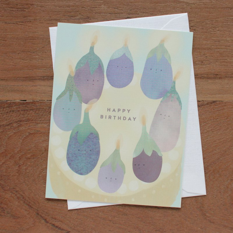The Aubergines - Happy Birthday - Greeting Card