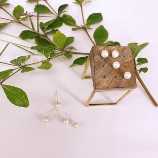 Pearl earrings imitation 6mm