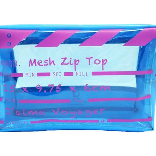 Director Clap - Mesh Zip Top - Suitable for carrying liquids on aircraft - Blue