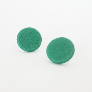 Circle dot Green Lemon Ingot Stainless Steel Ear Knitted Fabric Earrings Ear Clips 341