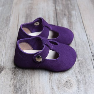 Purple Suede Baby Mary Jane, T-Strap Leather Mary Jane, Baby Girl Shoes