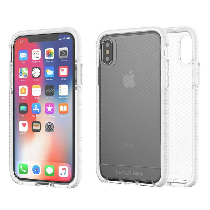 Tech21 UK Ultra Impact Evo Check iPhone X Collision Soft Prototype - Through White (5055517385428)
