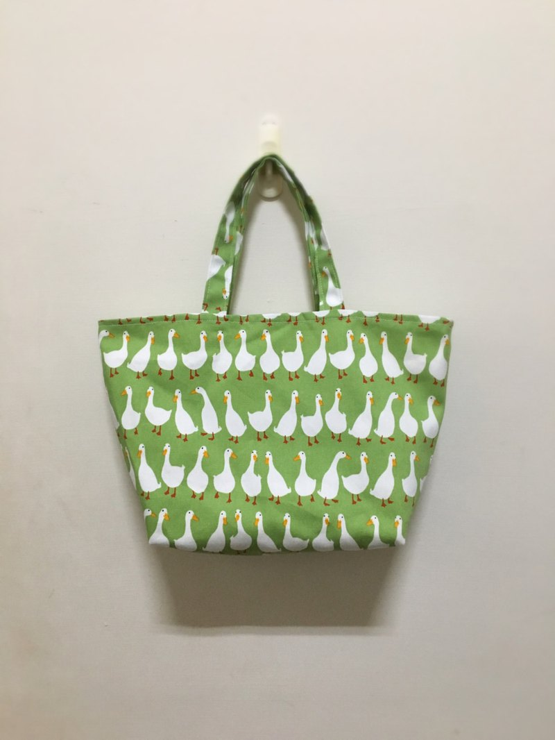 White goose gourd bag walking bag green