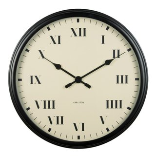 Karlsson, Wall clock Old Times black roman numbers