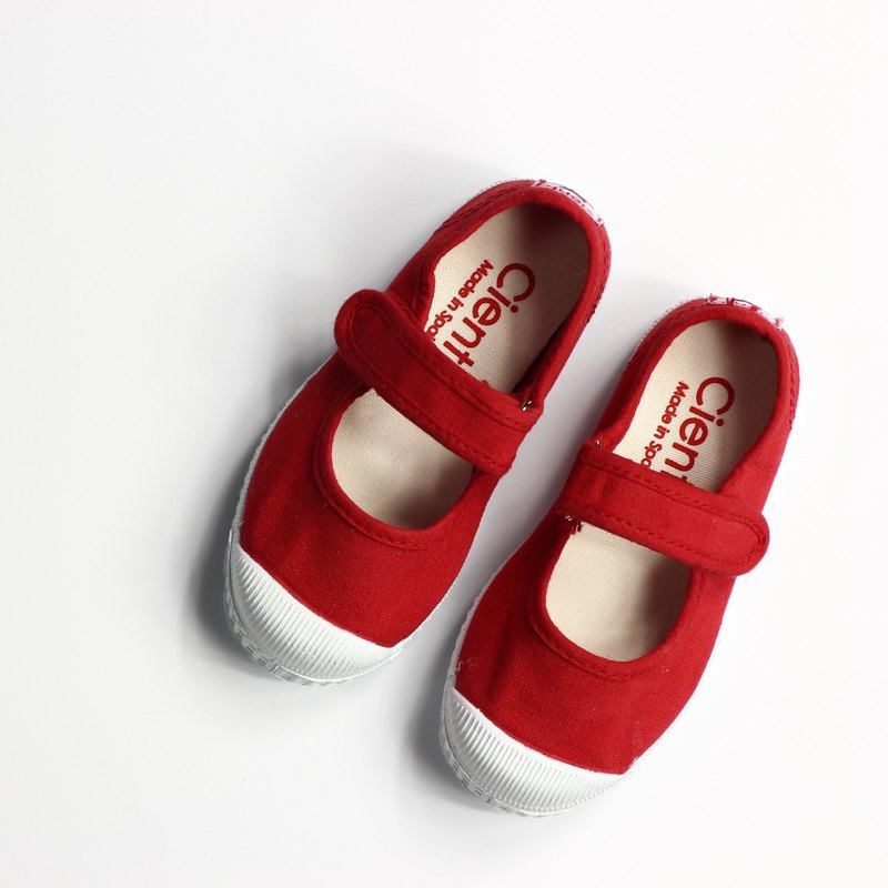 Spanish national canvas shoes CIENTA children's shoes size red fragrant shoes 76097 02