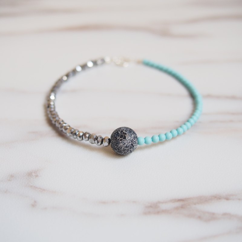 """KeepitPetite"" stylish weathered • Agate • · Turkey Turquoise Bracelet Wristband"