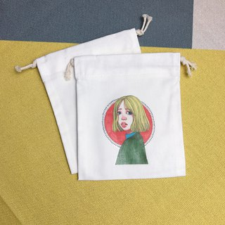 Drawstring yellow hair red nose girl admission / gift / placement / constellation