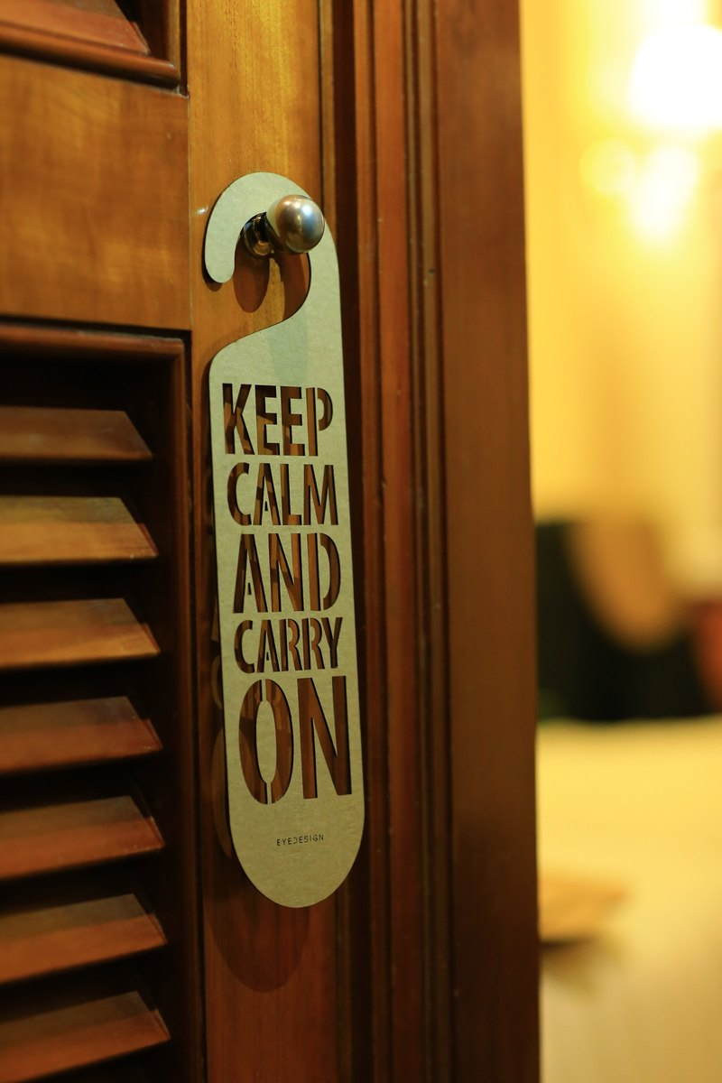 "[EyeDesign see design] a word door hanging ""KEEP CALM AND CARRY ON"" D31"