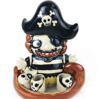 Nice Little Clay manual two toothbrush holder _ pirate 9