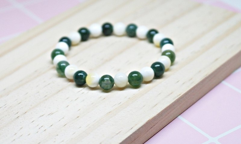Natural Stone Bracelet_Green Border