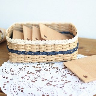 Handmade. Handle lace paper rattan weave storage box