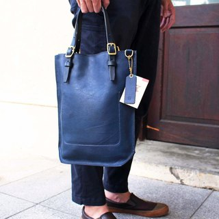 [VULCAN three-use tote bag] Italy YANKEE soft vegetable tanned leather small tote bag