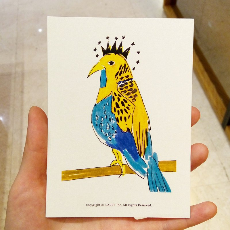 """King"" (Can make A3 size poster) Birthday Card Design Coloring Illustration Photo Album Card Universal Card Art Art Modern Lovers Love Special Interesting Weird Features Weird Cute Taiwan Yellow Fun Funny Eye-catching Tide Art Glitter Flash Cool"