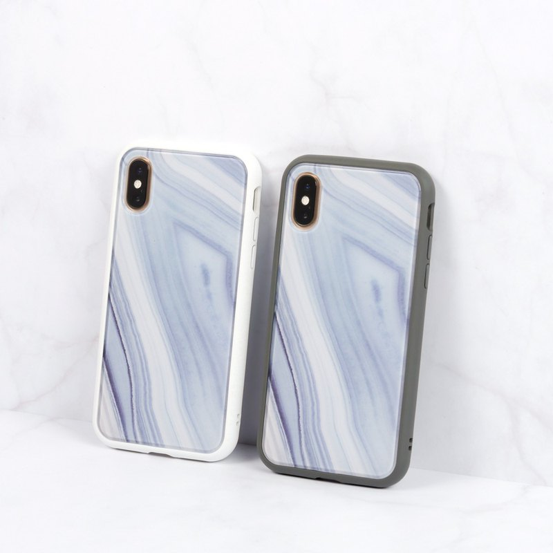 Mod NX frame back cover dual-use mobile phone case / texture stone pattern - polar for iPhone series