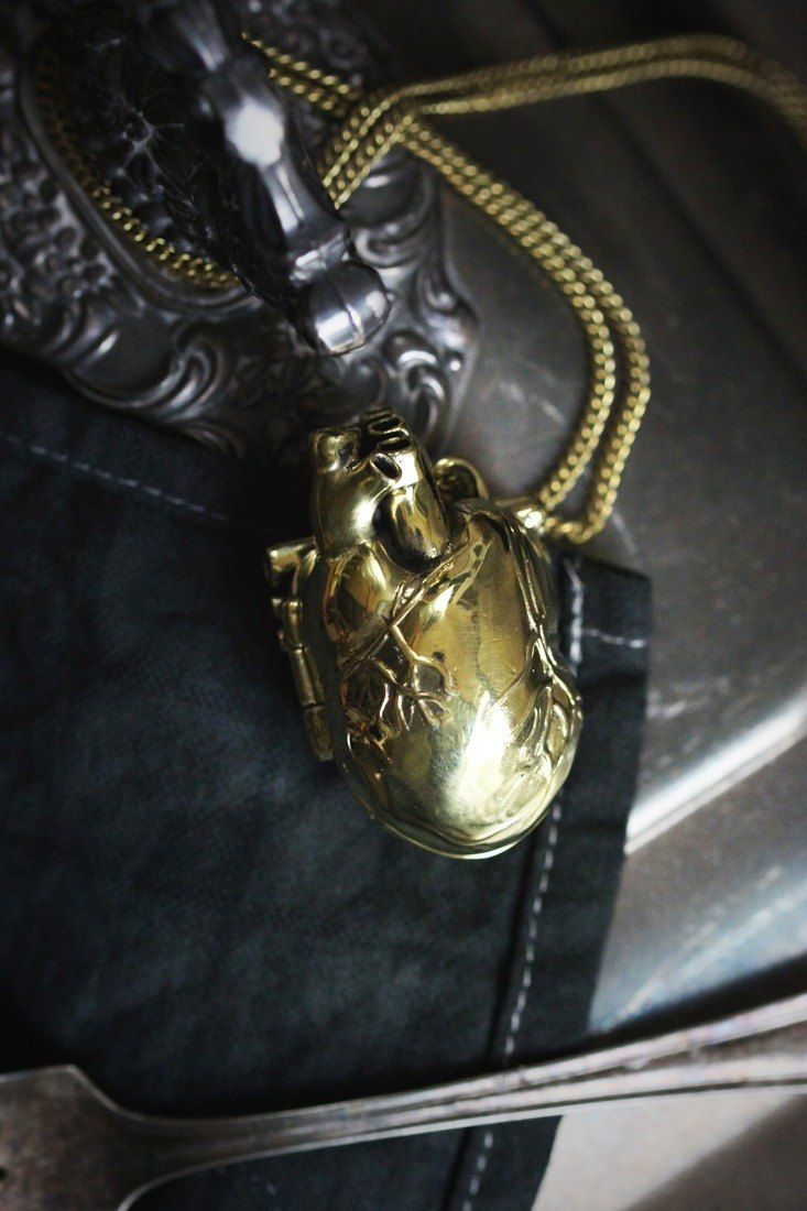 Heart Locket Charm Necklace by Defy.