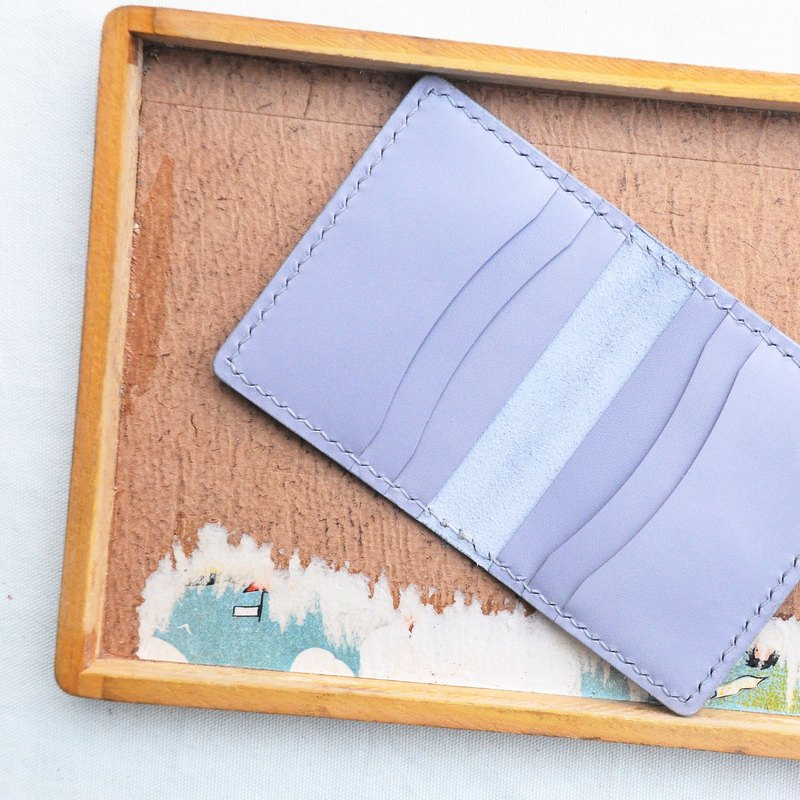 [6-Card Holder Card Holder - Light Gray | Gray] Handle Leather Bag Free Pressing Handmade Card Holder Card Holder Card Holder Card Holder Simple and Practical Italian Leather Vegetable Leather Leather DIY Card Holder Card Holder