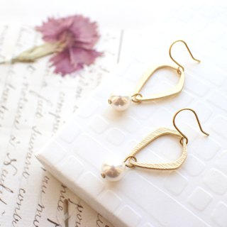 Free style-Brass earrings