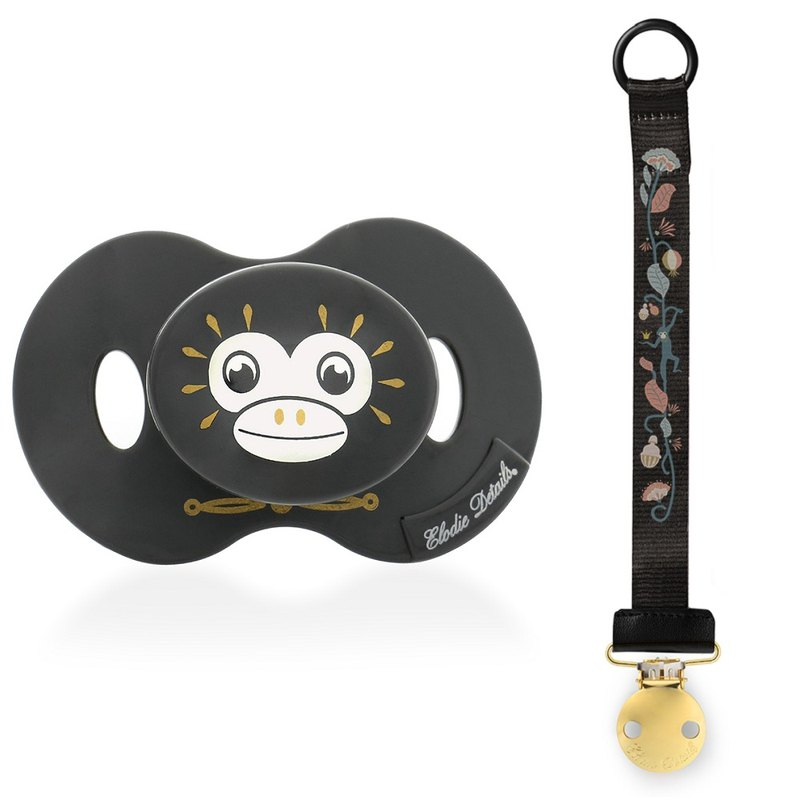 Elodie Details Pacifier + Pacifier clip Set - Playful Pepe