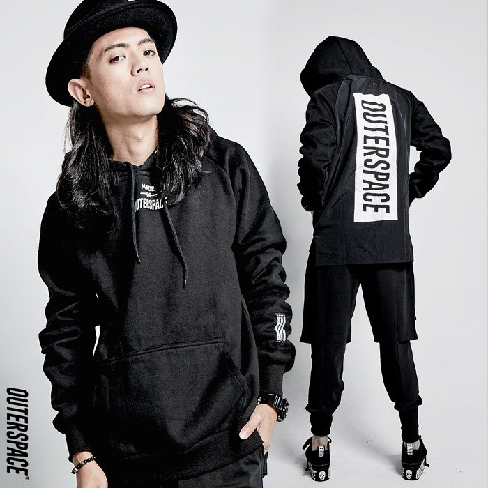 OUTER SPACE trench coat stitching cotton cap T
