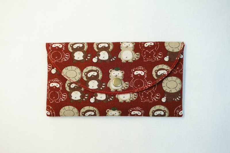 Play cloth hand made. Civet cats red envelopes bankbook pouch