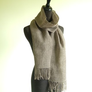 自家手織羊駝絨圍巾 My Handwoven Alpaca Scarf - Medium Silver Grey