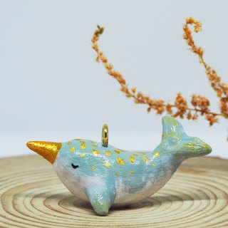 Narwhal handmade necklace