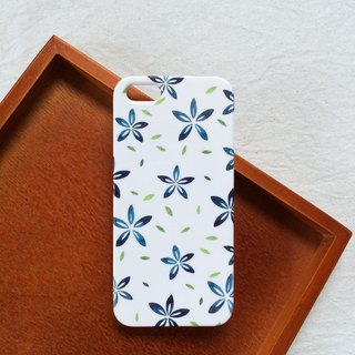 Watercolor Hand Painted Flowers - Blue Phone Case Hard Case iPhone Android