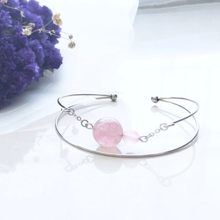 Love bracelet strawberry crystal chalcedony bracelet handcuffs