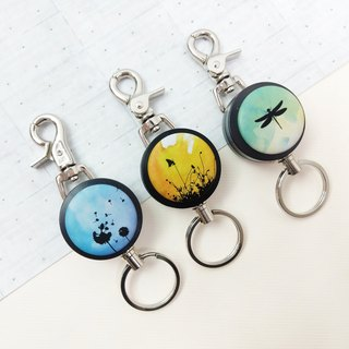 i good slip ring keychain series - Gradient (three) dragonfly sunset Dandelion