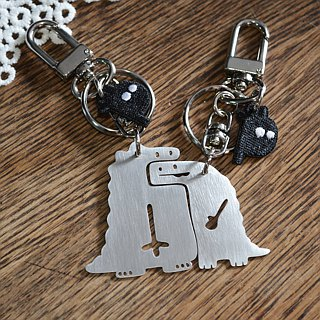 Over eaten  Stainless Steel Keychains / Set Valentine's Day X'mas