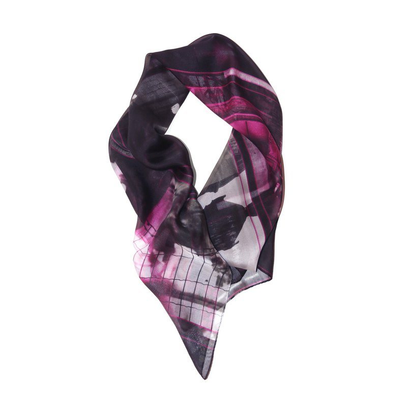 "Boutique fashion scarf ""Paris' Impression"" Paris impression of the thirteen all four"